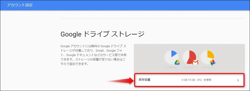 Googleドライブストレージ